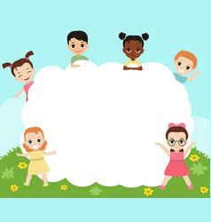 Group of happy children group of happy children vector