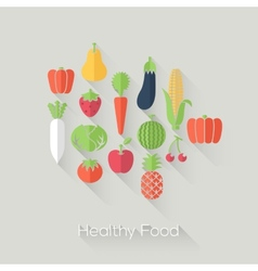 Healthy Food and Farm Fresh Concept vector image