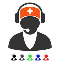 Hospital receptionist flat icon vector