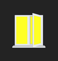 light from the open window yellow light vector image
