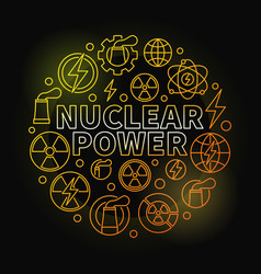 nuclear power round colorful vector image vector image