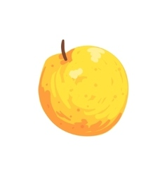 Orange Isolated Apple Funky Hand Drawn Fresh Fruit vector image