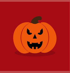 Pumkin on red background vector