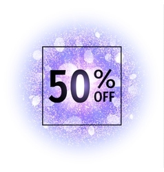 Sale banner 50 percents off vector