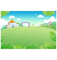 School landscape background vector