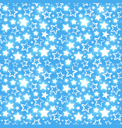 Seamless pattern with shining stars on blue vector