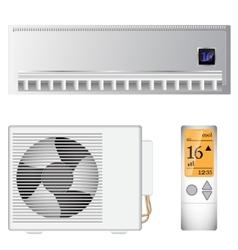 Split air conditioner vector