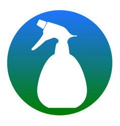 Spray bottle for cleaning sign white icon vector