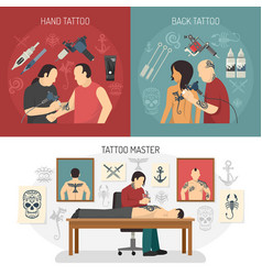 Tattoo studio design concept vector