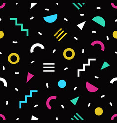 trendy seamless pattern with small bright colored vector image vector image