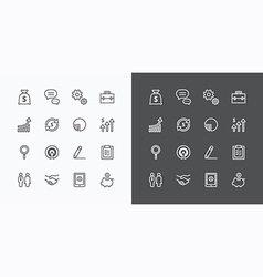 Usiness icons set flat line design for web vector