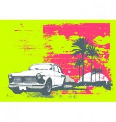 vintage car vector image vector image