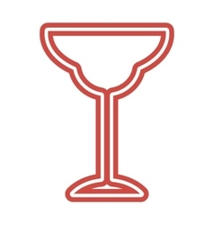 Wine Glass icon goblet symbol flat vector image vector image