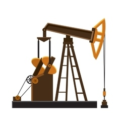 Oil rig icon cartoon style vector