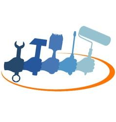 repair design for business vector image