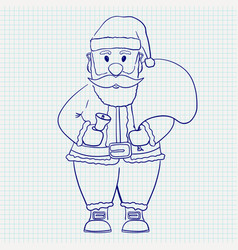 santa claus hand drawn sketch vector image