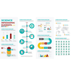 Science education infographic elements vector