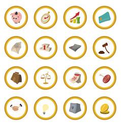 Cartoon business icon circle vector