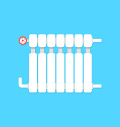 Radiator icon with temperature regulation vector