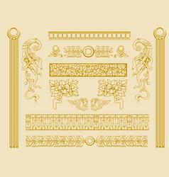 Vintage old decorations ornate design elements vector