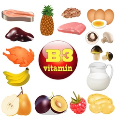 three vitamin B The origin vector image