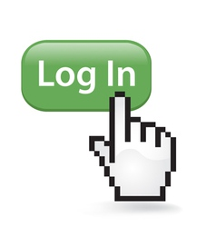Log in button click vector