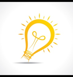 Abstract yellow light-bulb icon vector