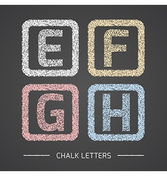 Chalk letters set vector
