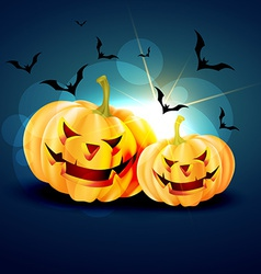 Shiny halloween background vector