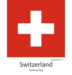 National flag of switzerland with correct vector