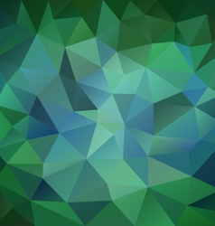 Emerald green blue polygon triangular pattern vector