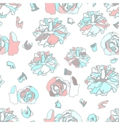 Seamless pattern with dried roses vector