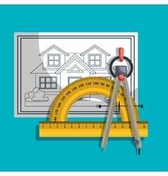 Architectural work design vector