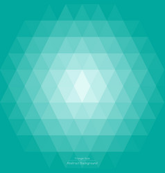 Abstract light green mint triangle background vector