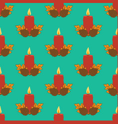 Candle seamless pattern vector