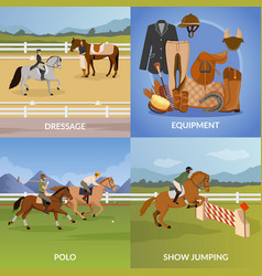 equestrian sport design concept vector image
