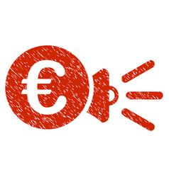 Euro megaphone ads icon grunge watermark vector