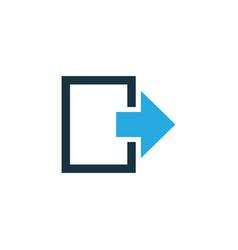 exit colorful icon symbol premium quality vector image