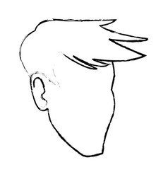 Face man male faceless hair style image vector