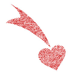 Falling heart fabric textured icon vector