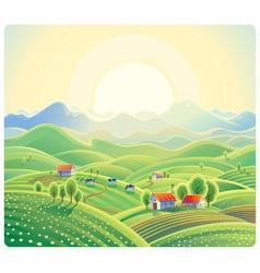Farming landscape vector image