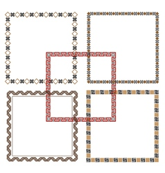 Five Geometric ethnic Frames vector image vector image