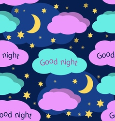 Good night seamless pattern vector