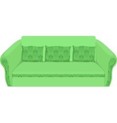 green sofa vector image