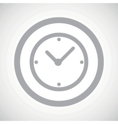 Grey clock sign icon vector