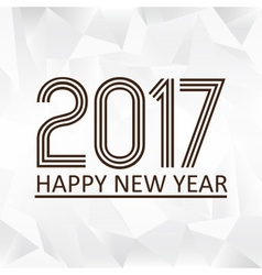 happy new year 2017 on wrinkled paper low polygon vector image