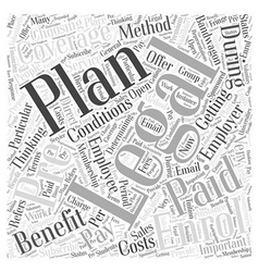 How to enrol for a legal plan word cloud concept vector