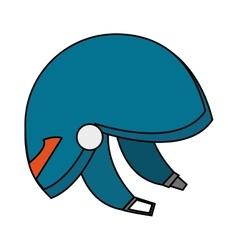 Isolated helmet of winter sport design vector