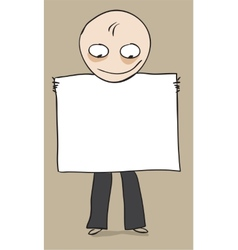 Man demonstrates presentation banner vector