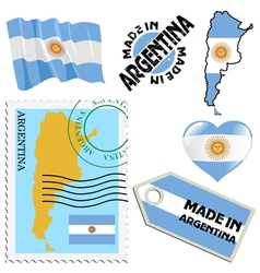 National colours of argentina vector
